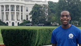 Miami Law student interns at White House