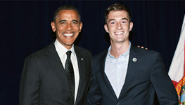 Miami Law Student Spends a Little Quality Time with President Obama